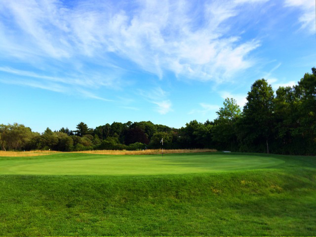Here's A View Of The Green Of The Par-4 Finishing Hole At Newport National In Middletown, Rhode Island. (Mike Bailey/Golf Advisor)