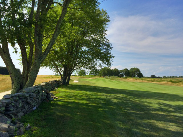 Beautiful Stone Walls, Like This One Along The Par-4 12th, Can Be Found Throughout Newport National Golf Club In Middletown, Rhode Island. (Mike Bailey/Golf Advisor)